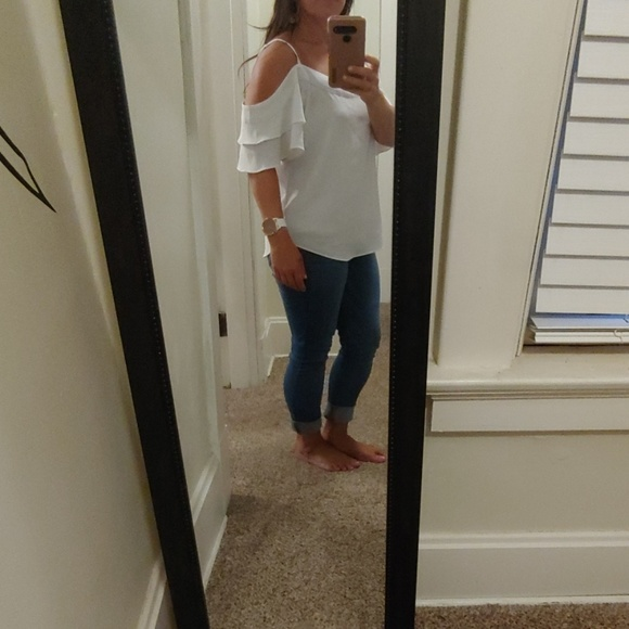 New York & Company Tops - Ruffled cold-shoulder top